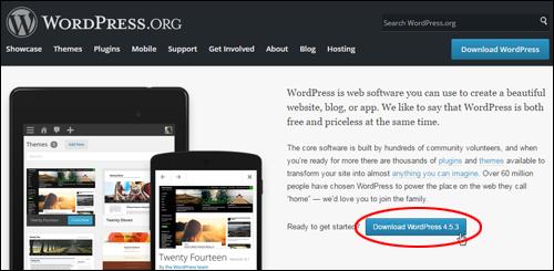 Download WordPress from WordPress.org