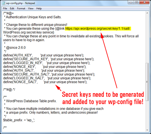 You need to generate salt keys and add these to your wp-config file