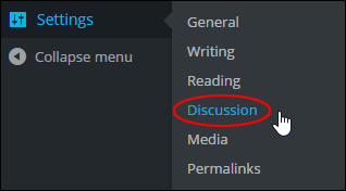 WP Settings Menu - Discussion