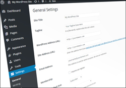 Configuring WordPress - General Settings