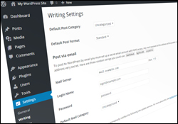 Configure WordPress - Writing Settings