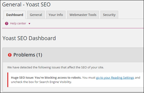 Blocking access to robots can affect some SEO plugin settings