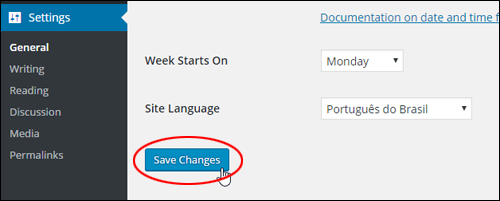 General Settings - Save changes