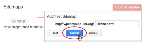 Submit your XML sitemap