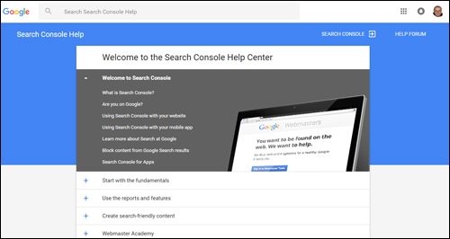 Search Console Help Center