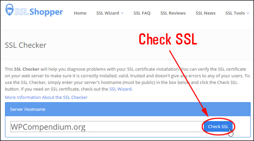 SSL Shopper - Check SSL Tool