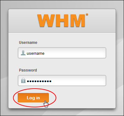 Web Hosting Manager Login