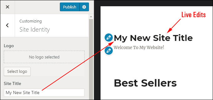 View live WordPress Theme edits in the Customizer