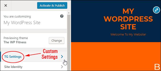 New WordPress themes can add new custom settings to the Customizer menu