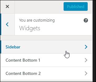 Customize your WordPress widgets in the Theme Customizer