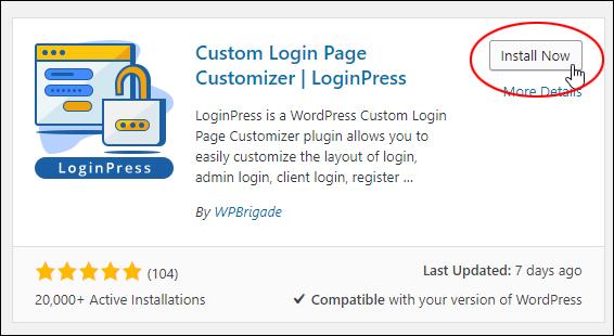 Install LoginPress