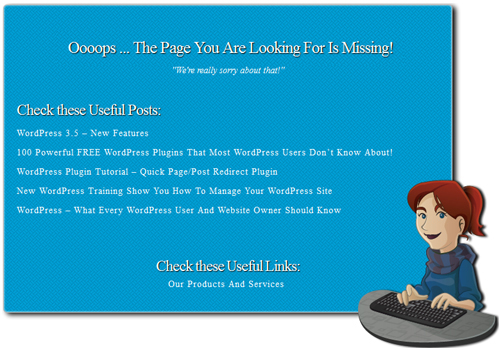 WordPress Plugin - Custom 404 Error Page
