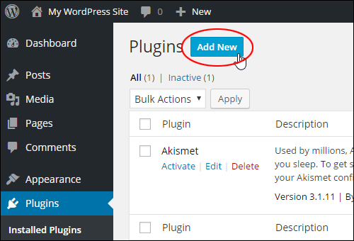 Plugins - Add New