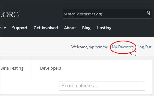 WordPress.org - My Favorites