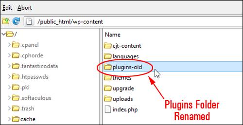 Plugins folder renamed