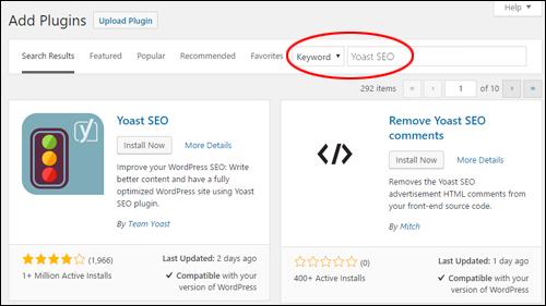 WordPress - Add Plugins Screen