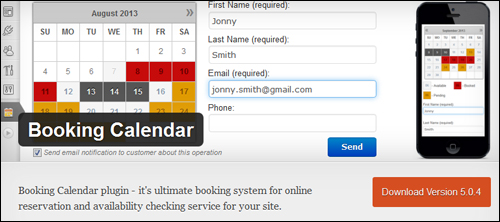 WordPress Plugin - Booking Calendar