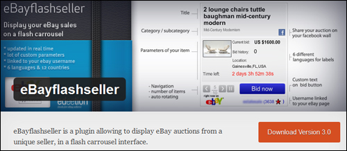 eBayFlashSeller Plugin For WordPress