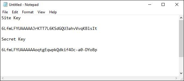 Copy and paste your keys into a plain text file