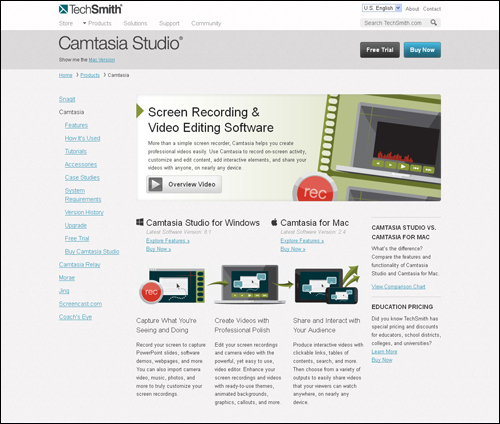 Camtasia - Screen Capture Software