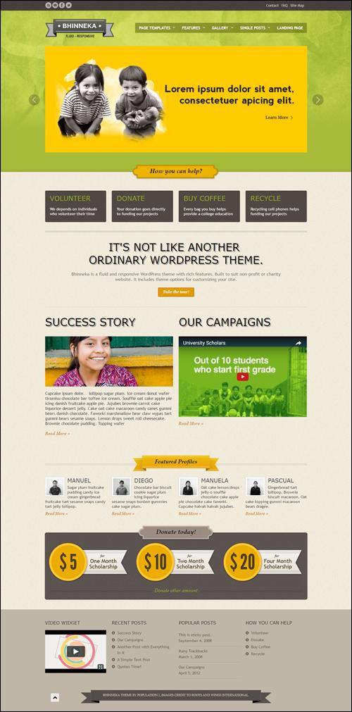 Bhinneka WordPress Theme - Desktop View