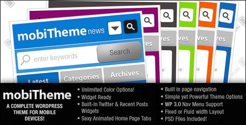 MobiTheme WordPress Mobile Theme