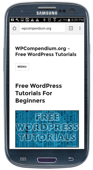 Most New WordPress Themes Are Mobile Responsive!