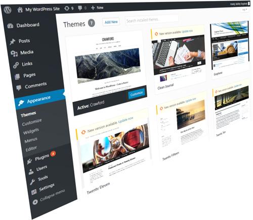 WordPress Themes Section