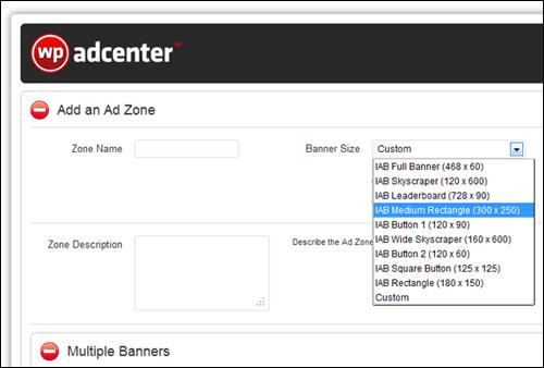 WP AdCenter settings
