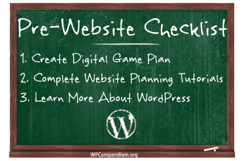 Pre-Website Checklist