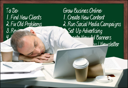 Who is going to do all the time-consuming work to grow the business online?