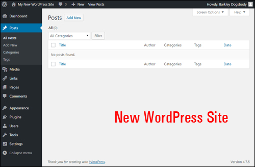 Let's import content into your new WordPress site