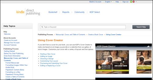 Amazon Cover Creator tool