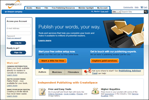 CreateSpace - Self-publishing POD