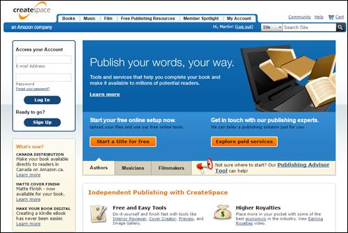 CreateSpace - Self-publishing POD