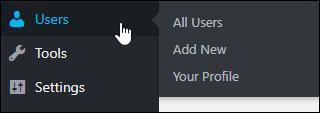 WordPress Users Menu