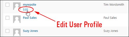Edit User Profile