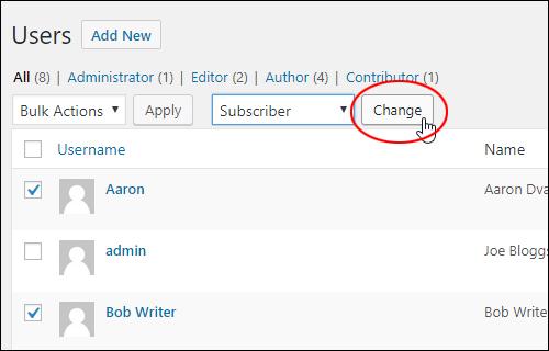 Bulk change user roles