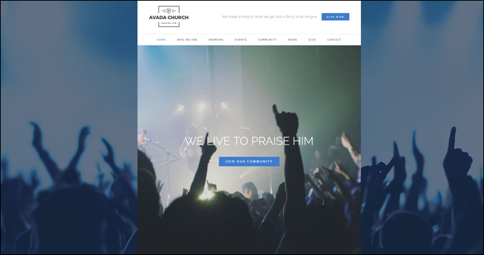 Avada Church WordPress Theme