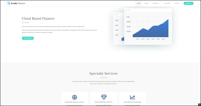 Avada Finance WordPress Theme