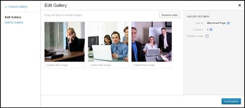 Using The WordPress Image Gallery