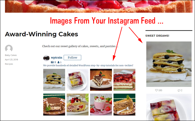 Display content from your Instagram feed on your WordPress site