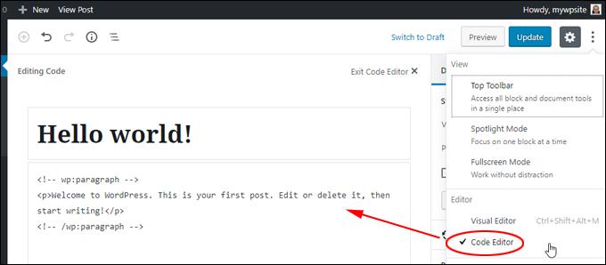 Editor - Code Editor