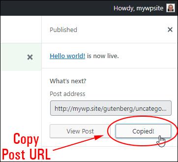 Copy Post URL