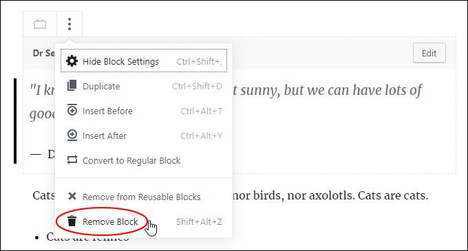 Remove Block