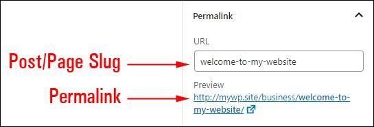 Post/Page Slug & Permalink
