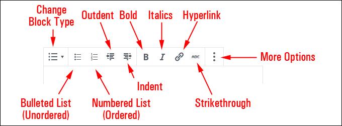 List Block Editor
