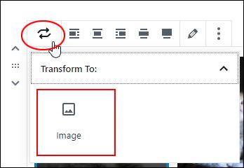 Change Block Type - Gallery Block