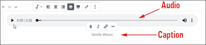 Edit your audio file settings