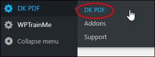 DK PDF menu